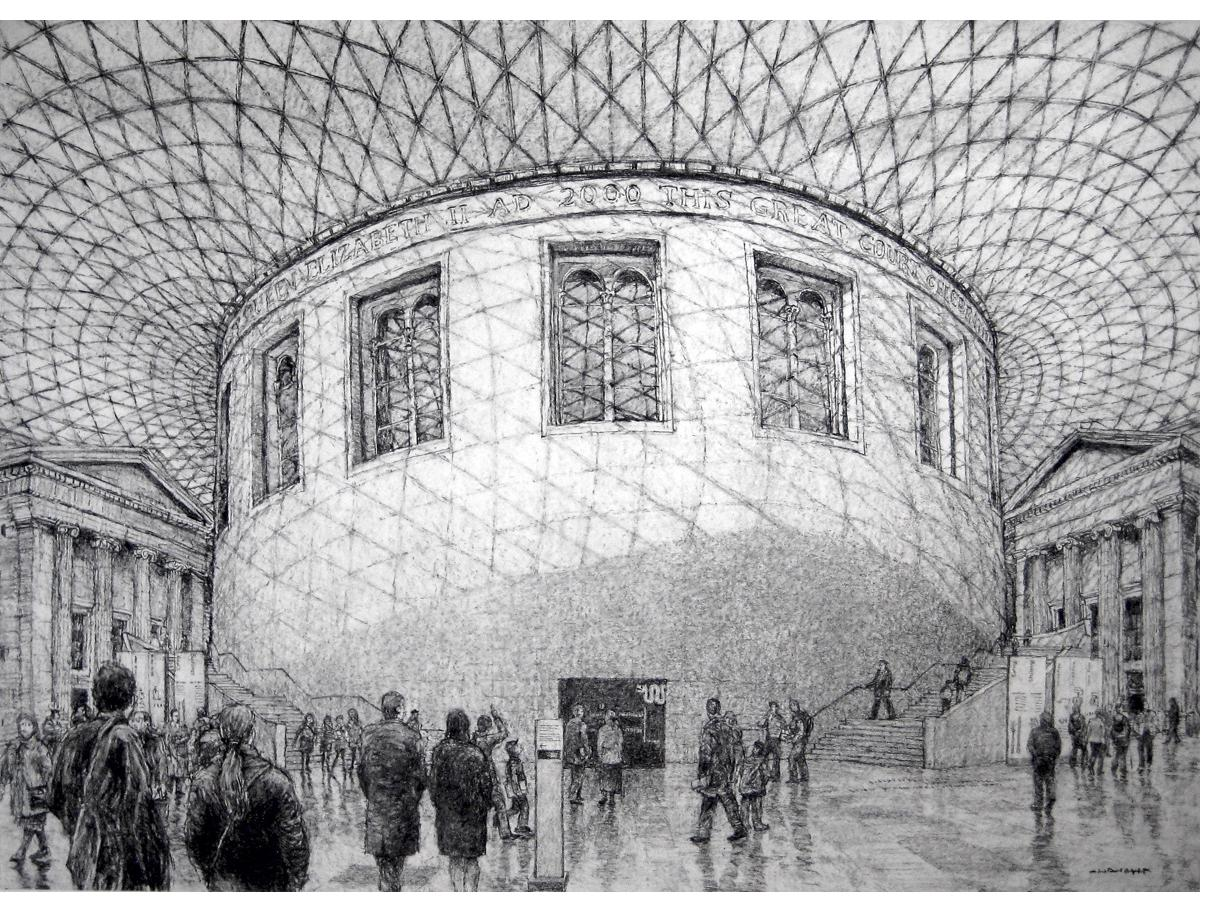 Roy Wright - 'British Museum and Great Court 2'