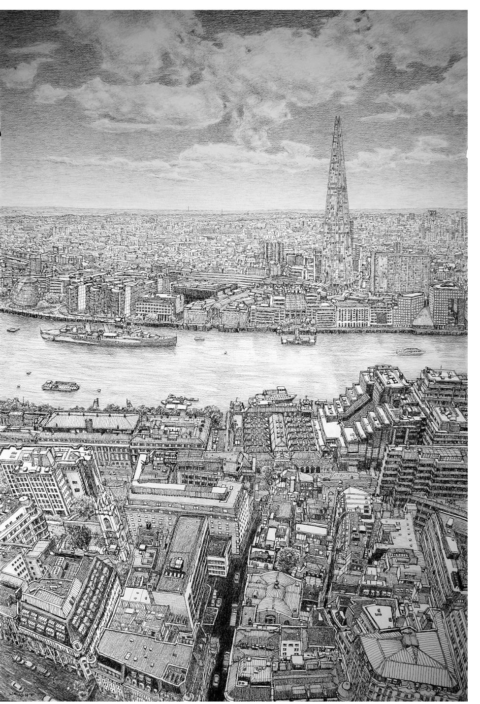 Roy Wright - 'Shard and Thames from Sky Garden'