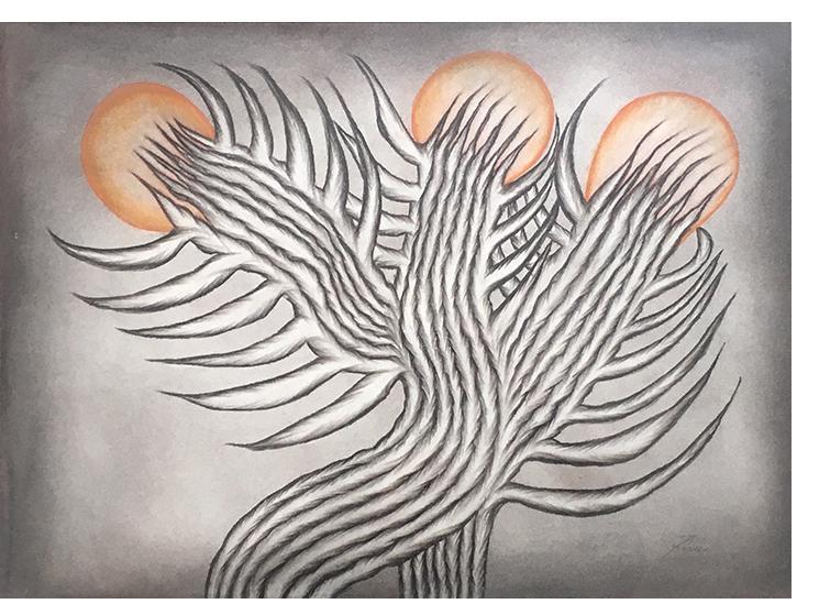 Anna Zemankova - Untitled c.1965 mixed media 17 x 25 ins