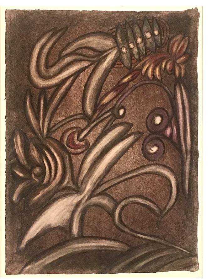 Anna Zemánková - Untitled c.1960 pastel on card 16 x 12 ins