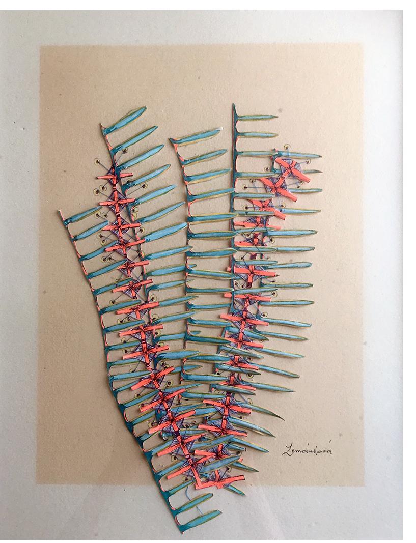 Zemankova Untitled c.1970 mixed media 18 x 13 in